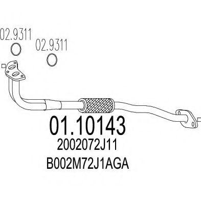 Приемная труба глушителя MTS 0110143