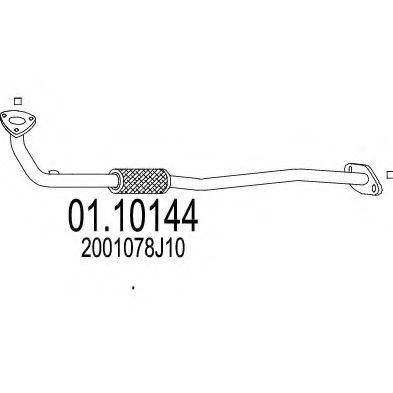Приемная труба глушителя MTS 0110144