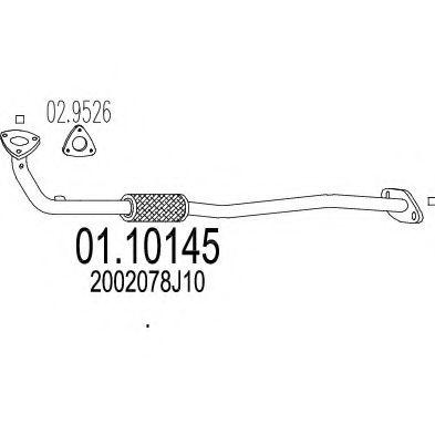 Приемная труба глушителя MTS 0110145