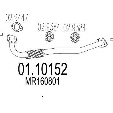 Приемная труба глушителя MTS 0110152