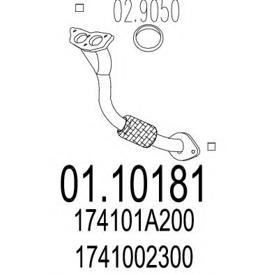 Приемная труба глушителя MTS 0110181