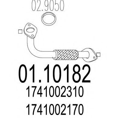 Приемная труба глушителя MTS 0110182