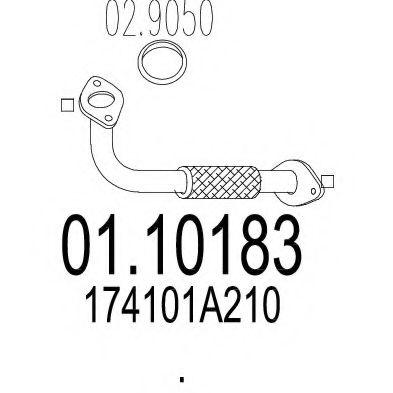 Приемная труба глушителя MTS 0110183