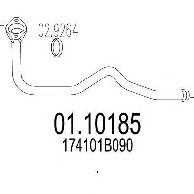 Приемная труба глушителя MTS 0110185