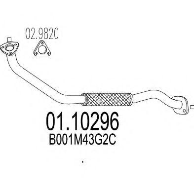 Приемная труба глушителя MTS 0110296