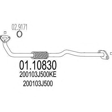 Приемная труба глушителя MTS 0110830