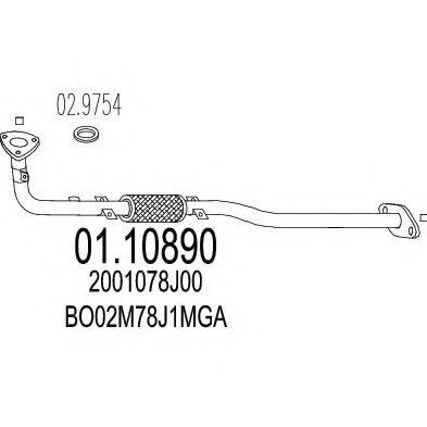 Приемная труба глушителя MTS 0110890