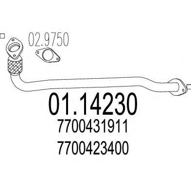 Приемная труба глушителя MTS 0114230