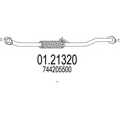 Приемная труба глушителя MTS 0121320