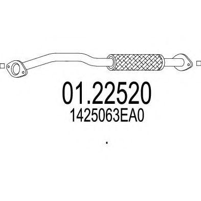 Приемная труба глушителя MTS 0122520