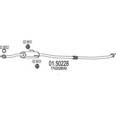 Резонатор MTS 0150228