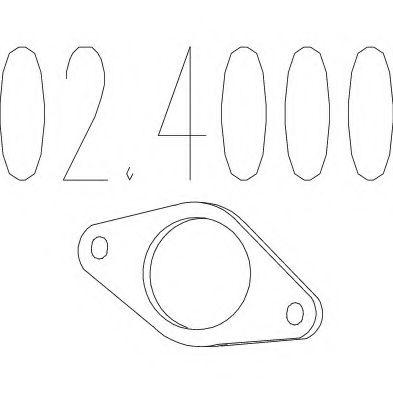 Прокладка приемной трубы MTS 024000
