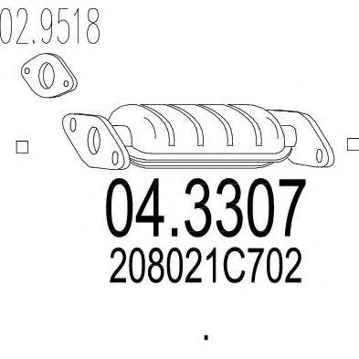 Катализатор MTS 043307