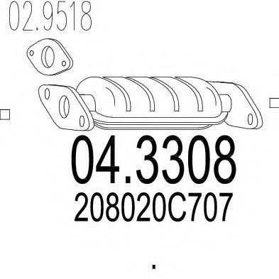 Катализатор MTS 043308