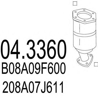 Катализатор MTS 043360
