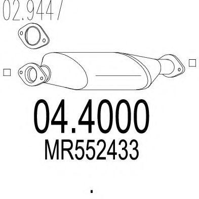 Катализатор MTS 044000
