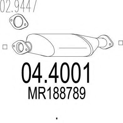 Катализатор MTS 044001