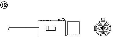 Лямбда-зонд NGK 0197