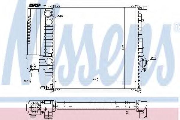 Радиатор охлаждения двигателя NISSENS 60623A