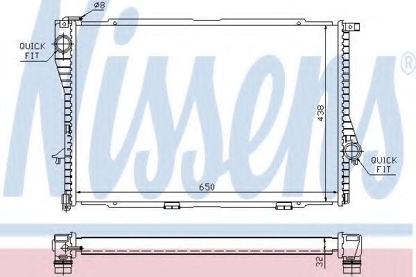 Радиатор охлаждения двигателя NISSENS 60648A