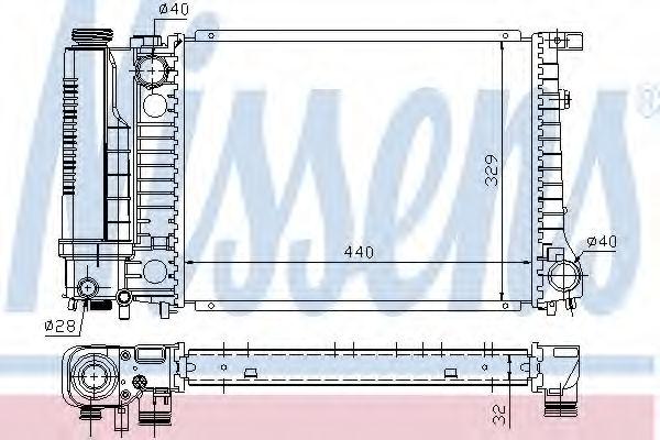 Радиатор охлаждения двигателя NISSENS 60735A