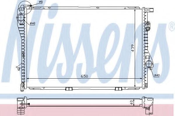 Радиатор охлаждения двигателя NISSENS 60752A
