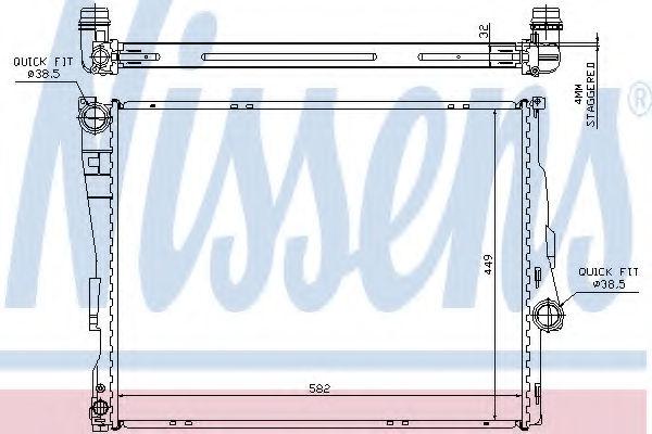 Радиатор охлаждения двигателя NISSENS 60782A