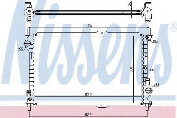 Радиатор охлаждения двигателя NISSENS 62156A