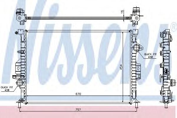 Радиатор охлаждения двигателя NISSENS 66857