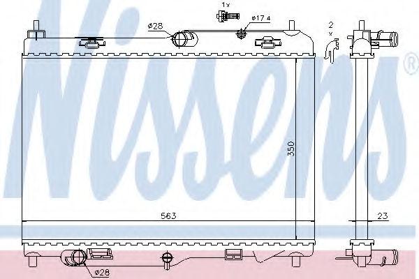 Радиатор охлаждения двигателя NISSENS 69233