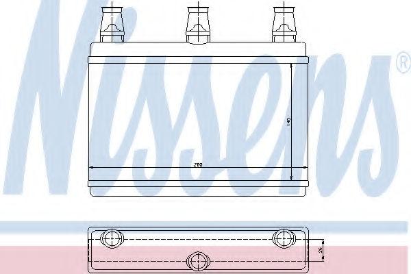 Радиатор печки NISSENS 70522