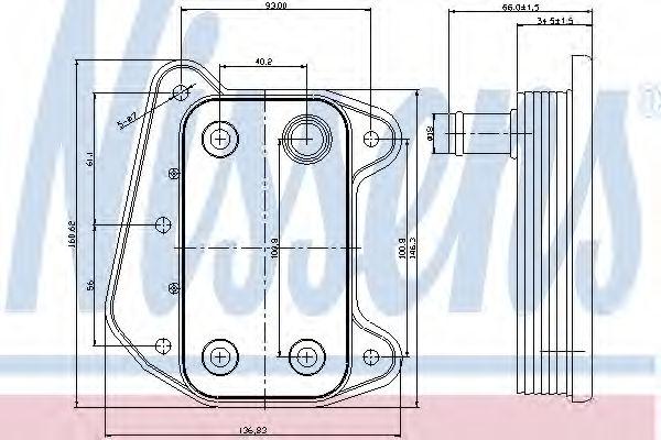 Масляный радиатор NISSENS 90622