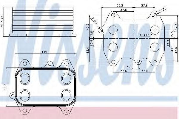 Масляный радиатор NISSENS 90681