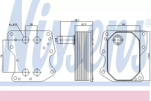 Масляный радиатор NISSENS 90723