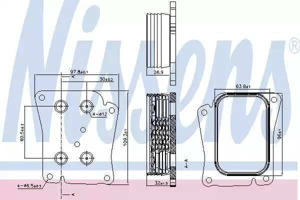 Масляный радиатор NISSENS 90777