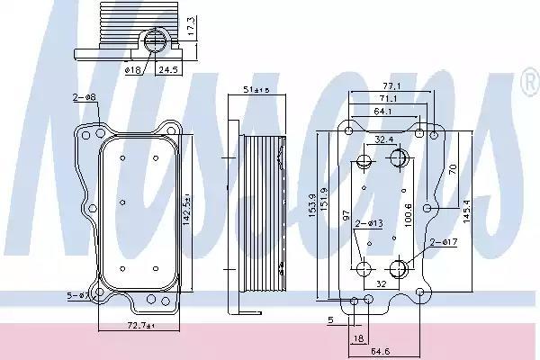 Масляный радиатор NISSENS 90783