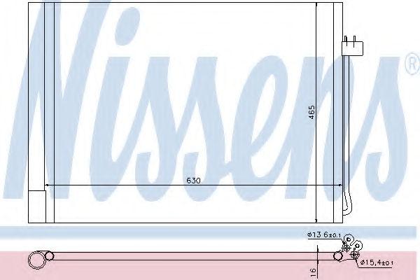 Радиатор кондиционера NISSENS 940058