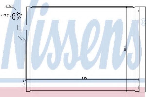 Радиатор кондиционера NISSENS 940288