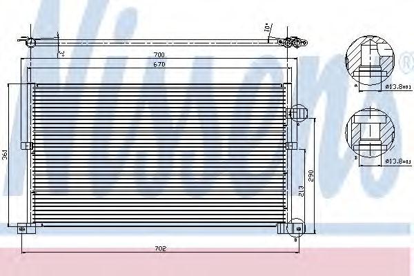 Радиатор кондиционера NISSENS 94586