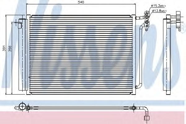 Радиатор кондиционера NISSENS 94605