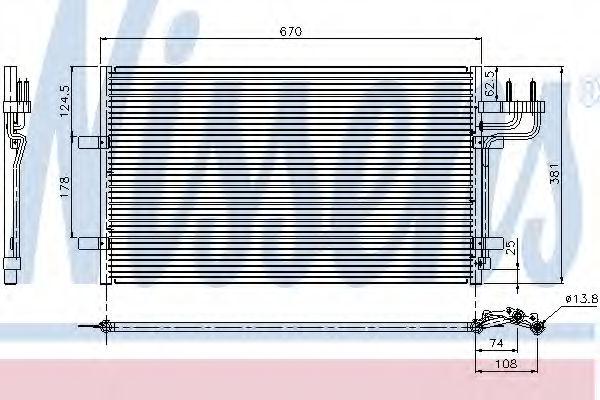 Радиатор кондиционера NISSENS 94663