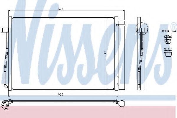 Радиатор кондиционера NISSENS 94679