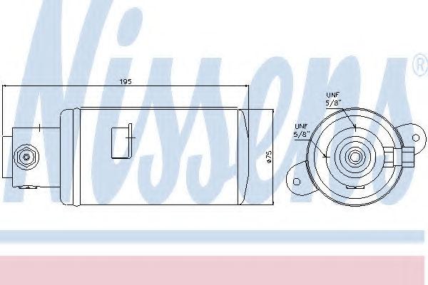 Осушитель кондиционера NISSENS 95076
