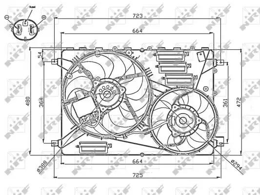 Вентилятор радиатора кондиционера NRF 47755