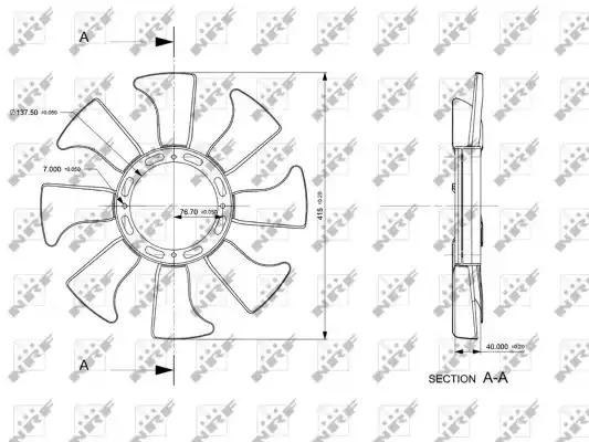 Крыльчатка вентилятора охлаждения двигателя NRF 49867