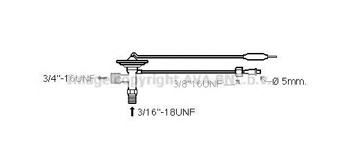 Расширительный клапан кондиционера PRASCO MT1241