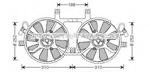 Вентилятор радиатора кондиционера PRASCO MT7519