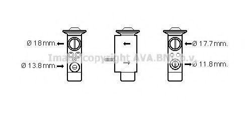 Расширительный клапан кондиционера PRASCO VO1162