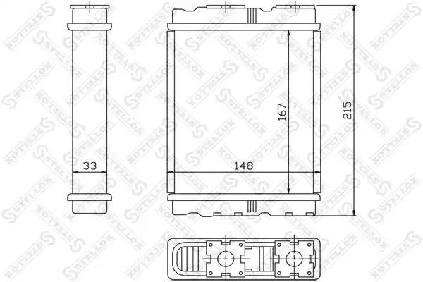 Радиатор печки STELLOX 1035136SX