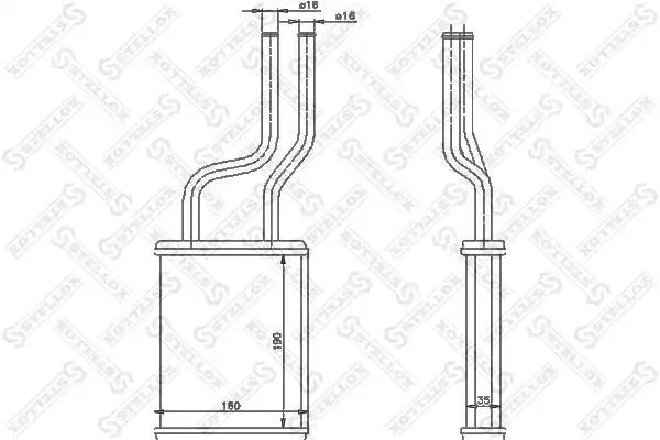 Радиатор печки STELLOX 1035179SX